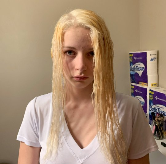 Bleached hair gone wrong